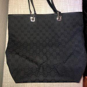Gucci black tote handbag